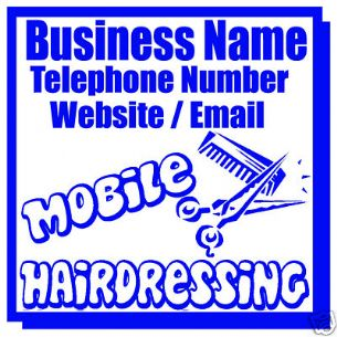 HAIRDRESSING ADVERTISE BUSINESS MAGNETIC CAR / VAN SIGN
